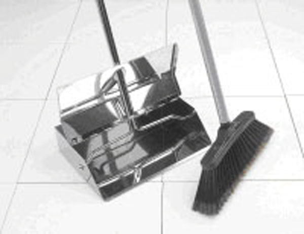 Stainless Steel Dustpan with Long Handle Surgery Brush