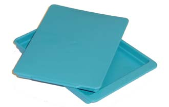 Autoclave plastic tray with lid