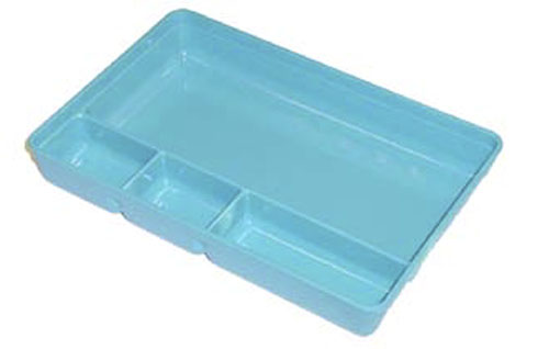 Autoclave plastics compartment tray with lid